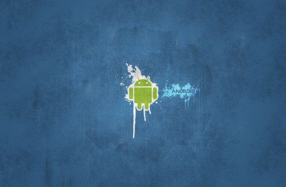 Android Logo Blue Background HD Wallpaper Image Free Download