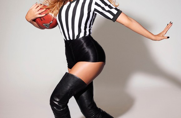 Beyonce Fashion 2013 Super Bowl Referee Photo Picture Background