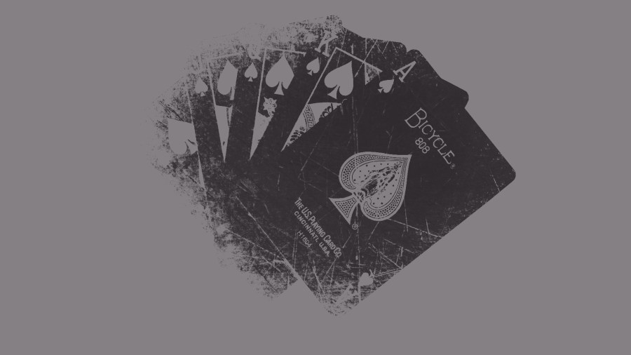 Black Grunge Playing Cards HD Wallpaper Background Free Download