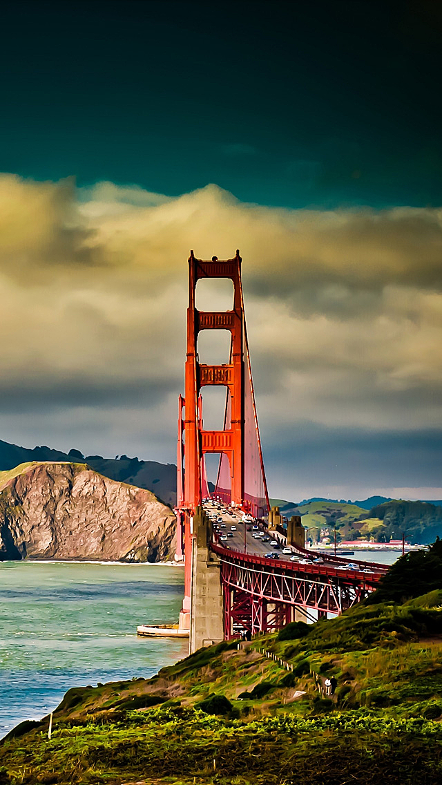 Awesome Bridge And Sky Photo Picture HD Wallpaper For iPhone