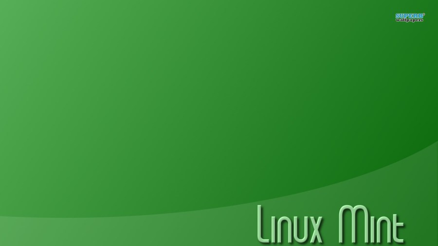 Linux Mint Font Green Background HD Wallpaper Image Free Download