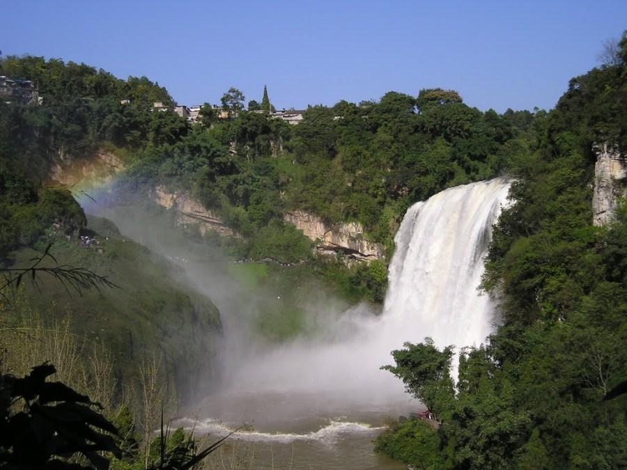 Beautiful Huangguoshu Waterfall In China Wallpaper HD Widescreen