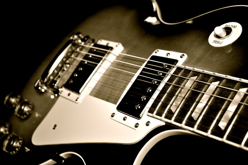 Amazing Gibson Les Paul Guitar HD Wallpaper Photo For Your PC Desktop