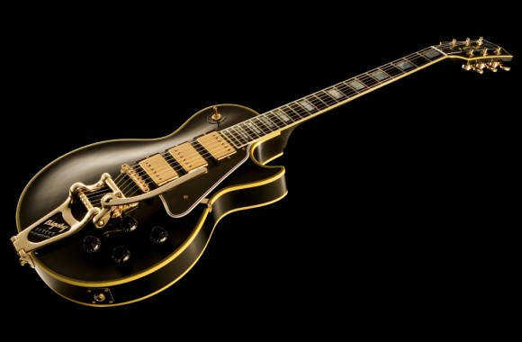 Gibson Les Paul Electric Guitar Music Black Background HD Wallpaper