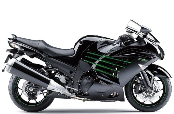 Black Kawasaki ZX14R Motorcycle Automotive HD Wallpaper Picture