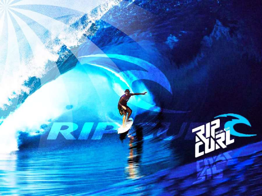 Amazing Ripcurl Surfing On The Beach Photo Picture HD Wallpaper