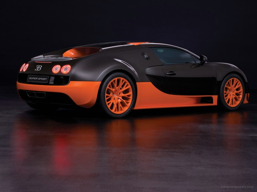 Black Orange Bugatti Veyron 16 4 Super Sport Cars HD Wallpaper