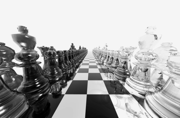Black And White Chess Board Pieces Photo And Picture Sharing