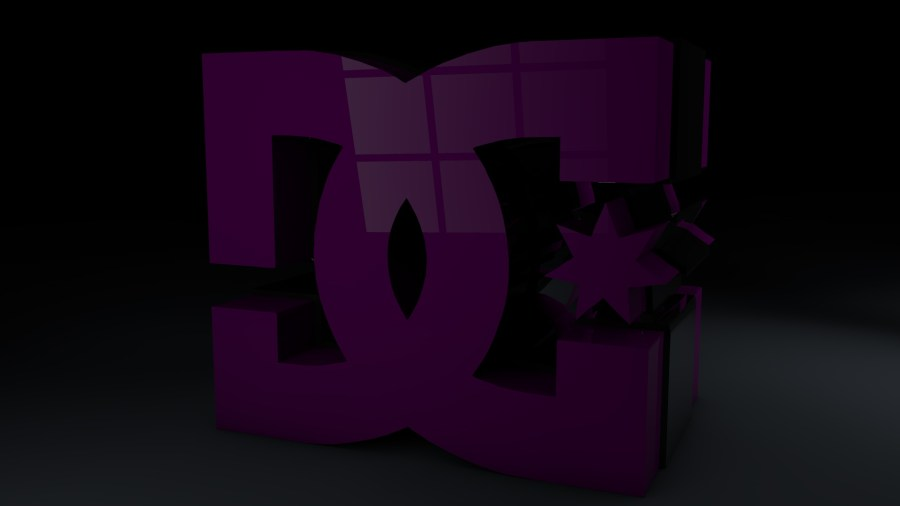 Purple DC Shoes Logo With High Definition Wallpaper Image Background