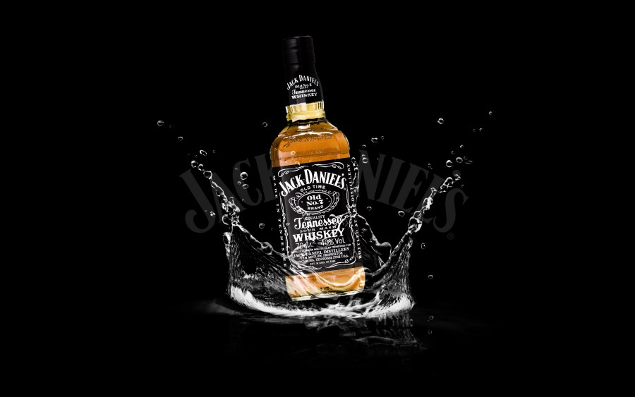 Awesome Jack Daniels Water Black Background HD Wallpaper