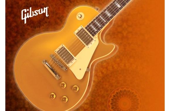 Brown Gibson Les Paul HD Wallpaper Widescreen For PC Desktop