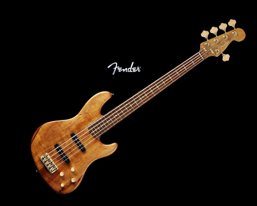 Fender Victor Bailey Jazz Bass V Music Picture HD Wallpaper Background