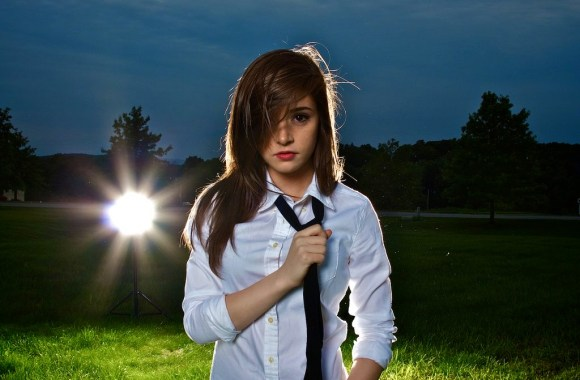 Chrissy Costanza White Shirt And Black Tie Photoshoot Picture