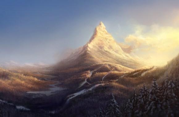 Mountain Artwork Wallpaper