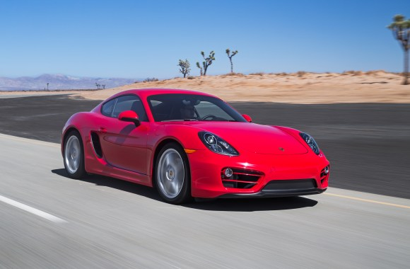 2014 Red Porshce Cayman HD Wallpaper
