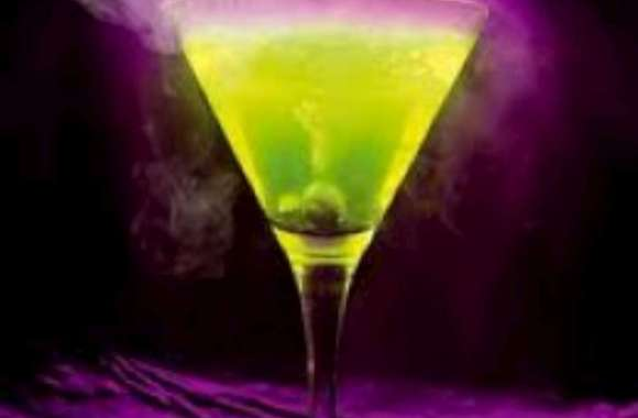 Green and Purple Martini HD Wallpaper