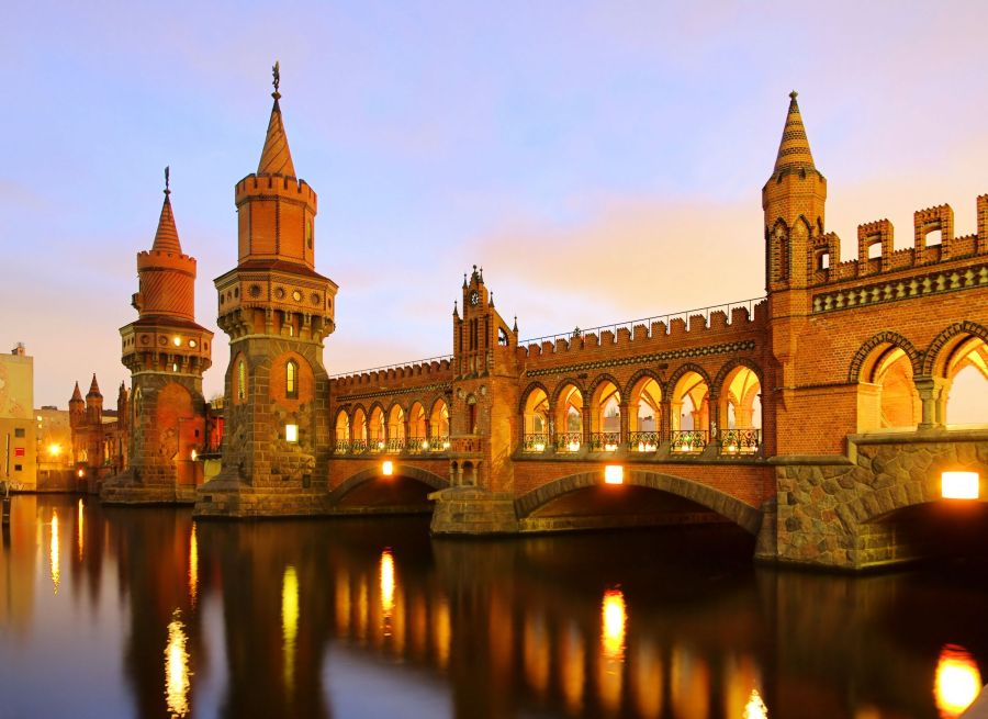 Oberbaum bridge, Berlin, Germany.