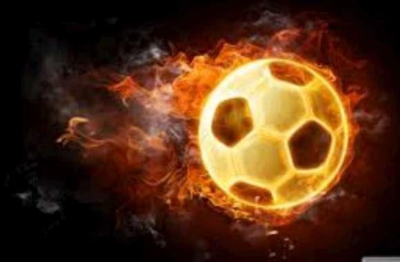 Blazing Soccer Ball HD Wallpaper