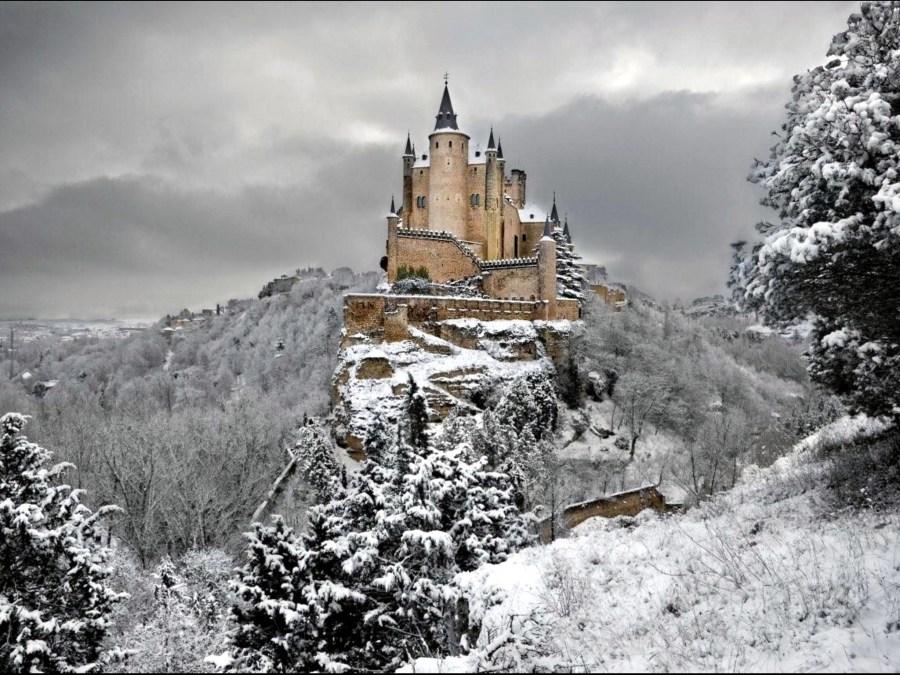 Alcazar Castle Winter of Segovia HD Wallpaper
