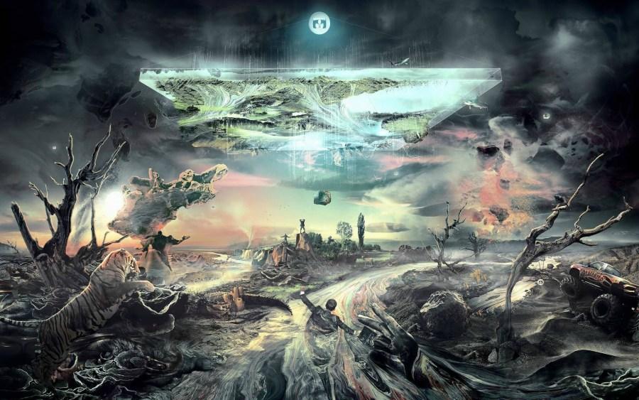 Desolate World Abstract