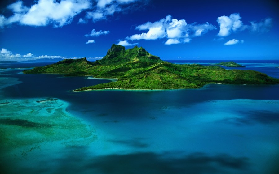 Lusch Green Uninhabited Tropical Island