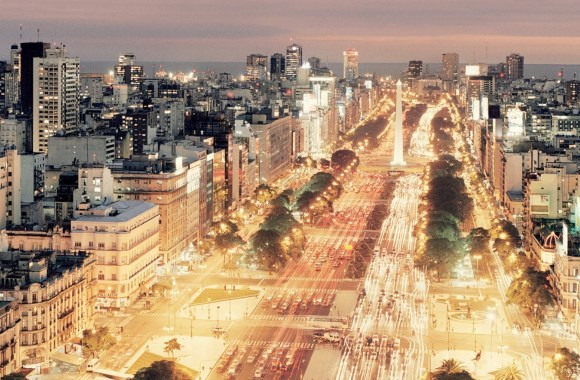 Buenos Aires Night Scene HD Wallpaper