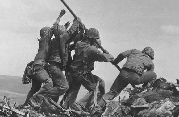 Iwo Jima Flag Raising HD Wallpaper