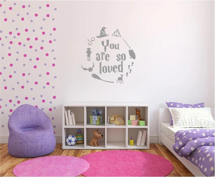 Download Harry Potter Wall Sticker Quote You are So Loved.   Wall ...