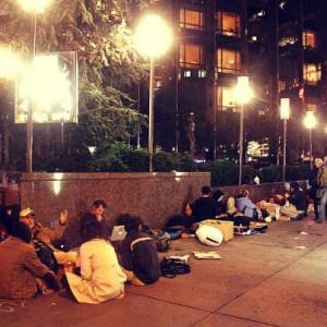Occupy Wall Street Protesters Outside 15 Central Park West, the Residence of Lloyd Blankfein, CEO of Goldman Sachs