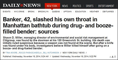 Shawn D. Miller Headline at the New York Daily News