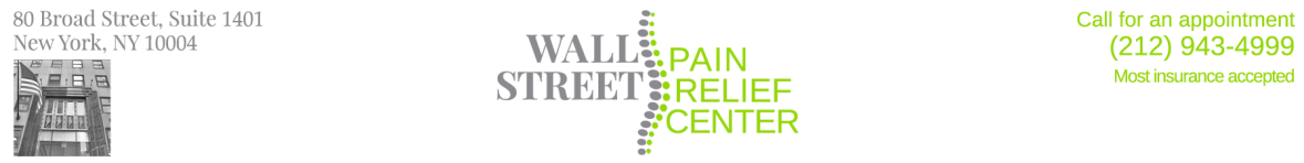 Wall Street Pain Relief Center (212) 943-4999