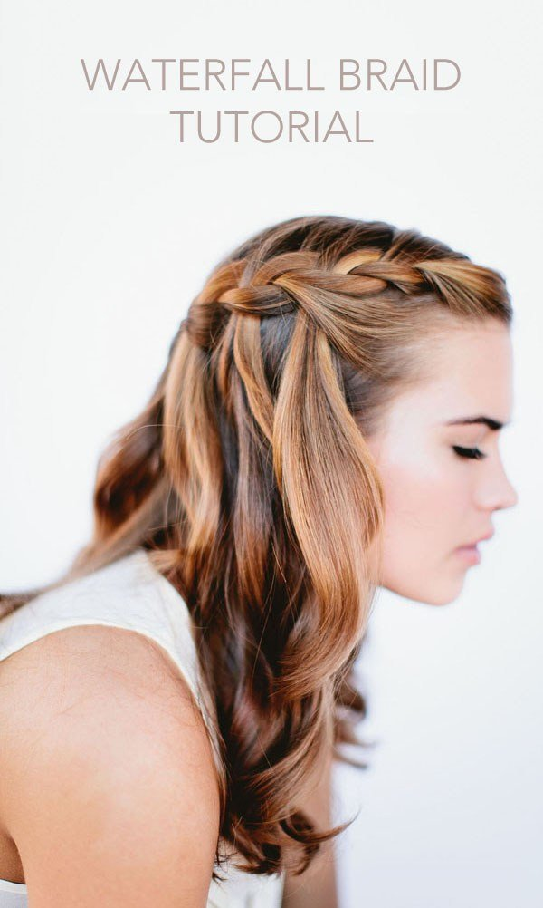 New Waterfall Braid Wedding Hairstyles For Long Hair Once Wed Ideas With Pictures