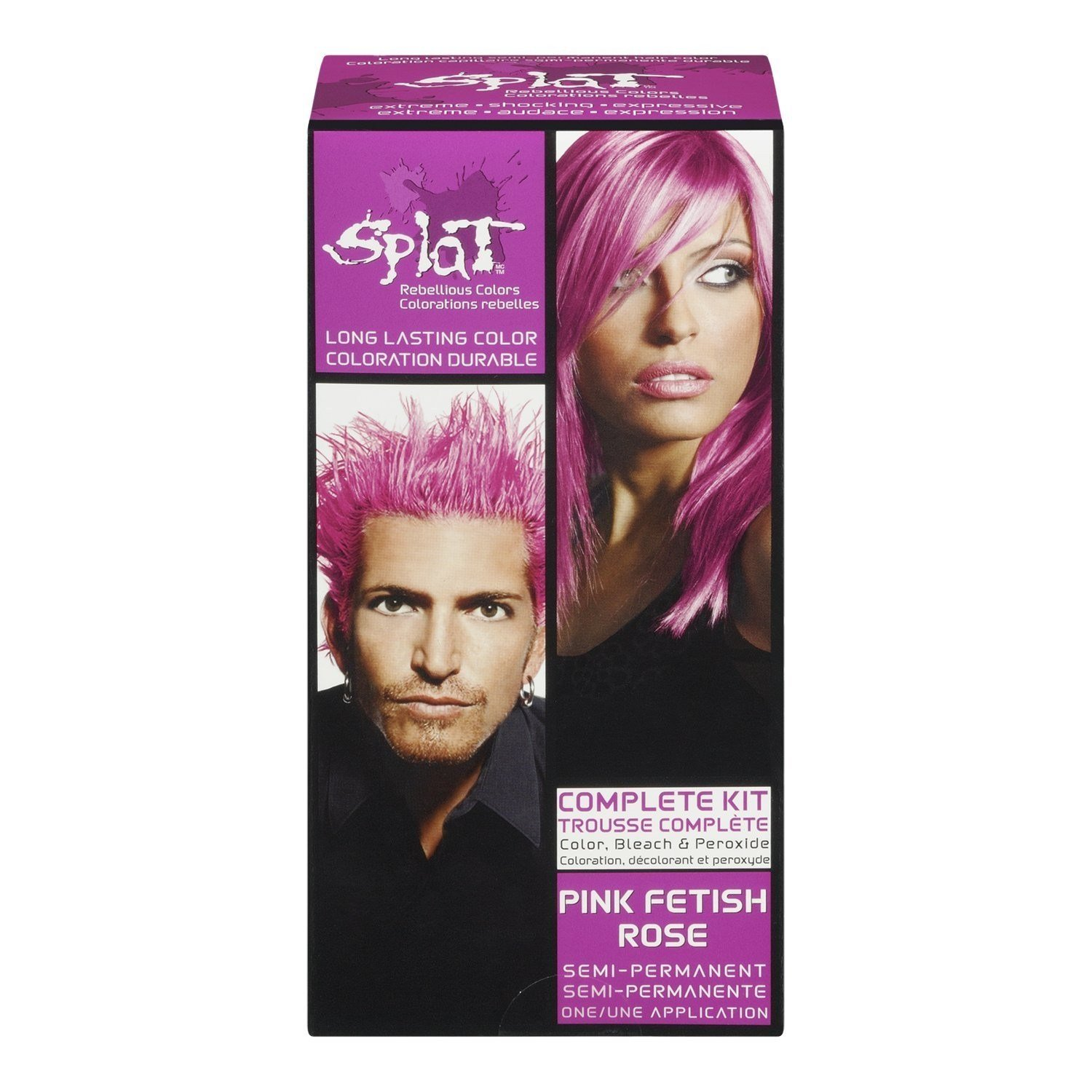 New Splat Complete Hair Color Kit Pink F*T*Sh 1 Application Ideas With Pictures