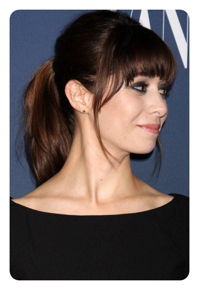 New 97 Amazing Ponytail With Bangs Hairstyles Ideas With Pictures Original 1024 x 768