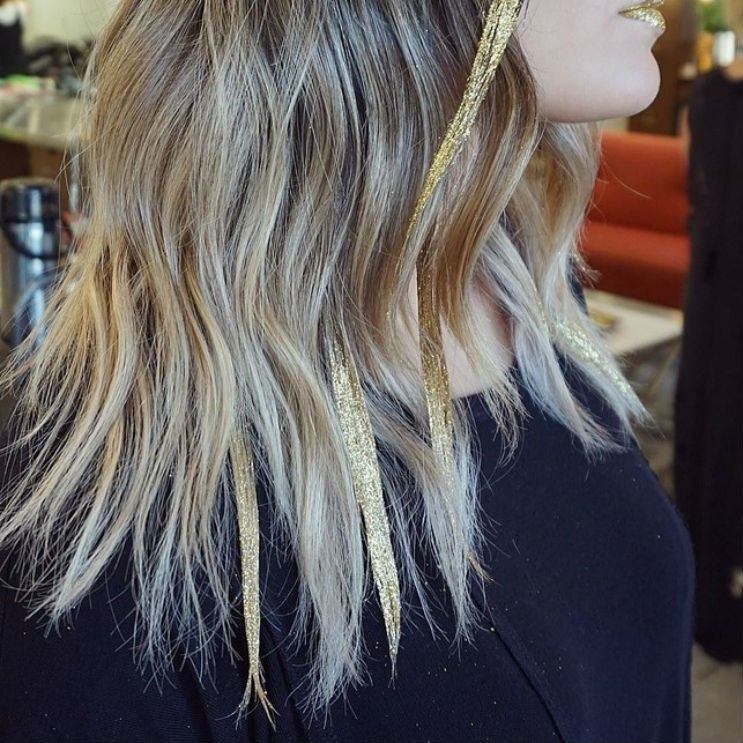 New Glitter Highlights Are The Next Hair Trend Taking Over Ideas With Pictures