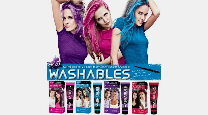New Temporary Hair Color Products That Wash Out Easy Brush Ideas With Pictures
