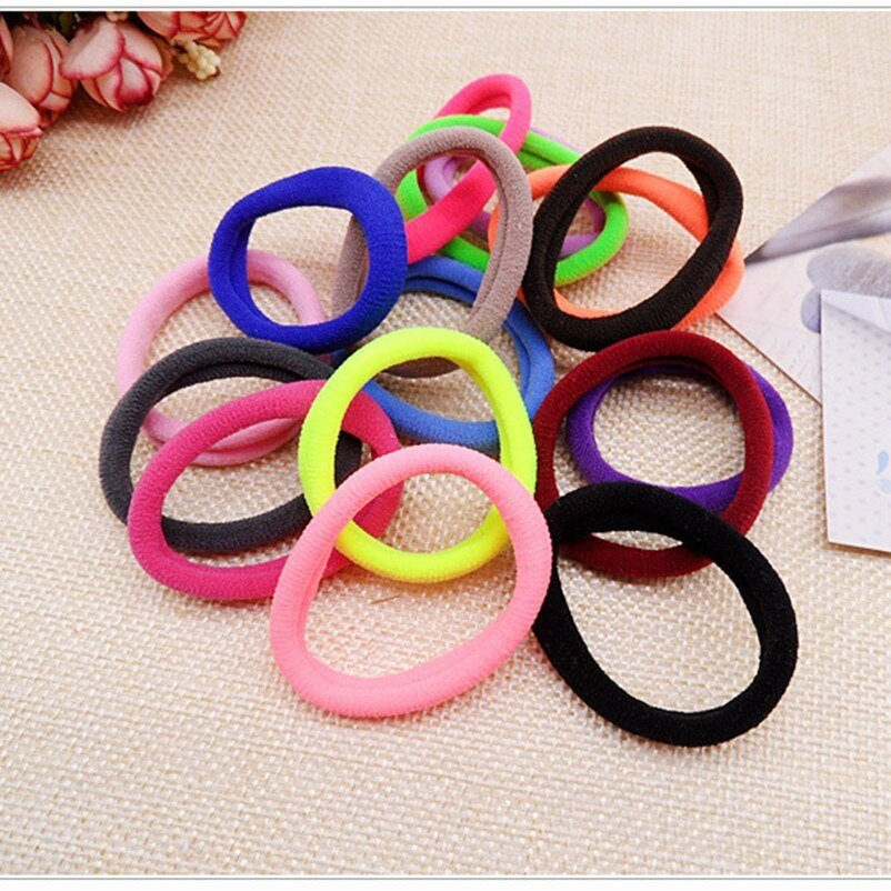 New 100Pcs Lot Hair Accessories Hair Band Ponytail Holders Ideas With Pictures
