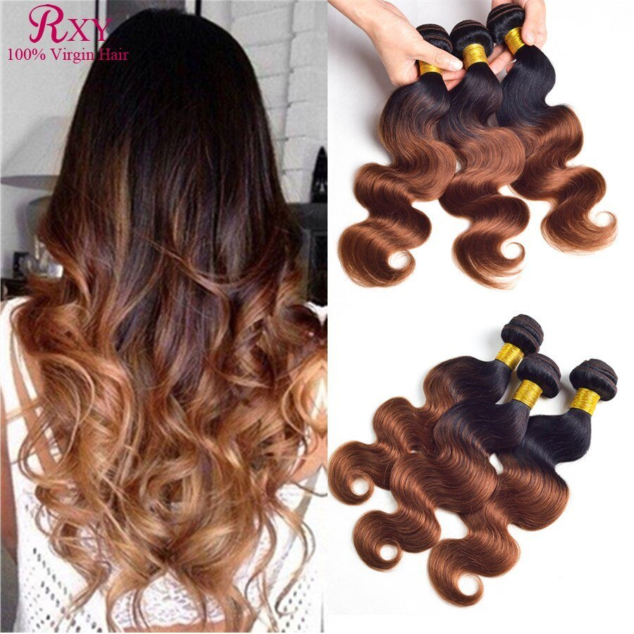 New Rxy Hair Ombre Brazilian Hair Extensions Body Wave 1B Ideas With Pictures