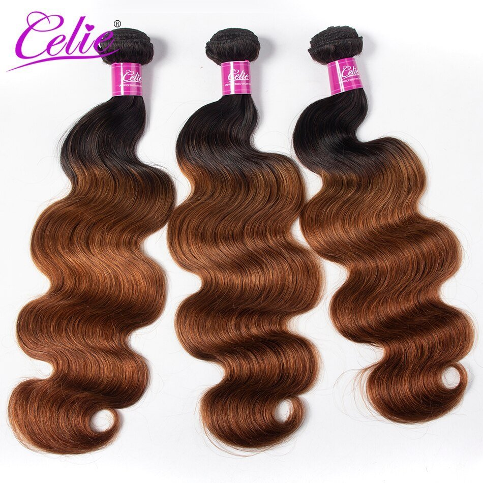 New Celie Hair Colored Brazilian Body Wave Hair Bundles 1B 30 Ideas With Pictures