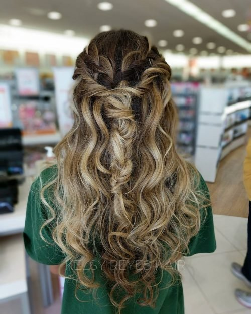 New 27 Prettiest Half Up Half Down Prom Hairstyles For 2019 Ideas With Pictures