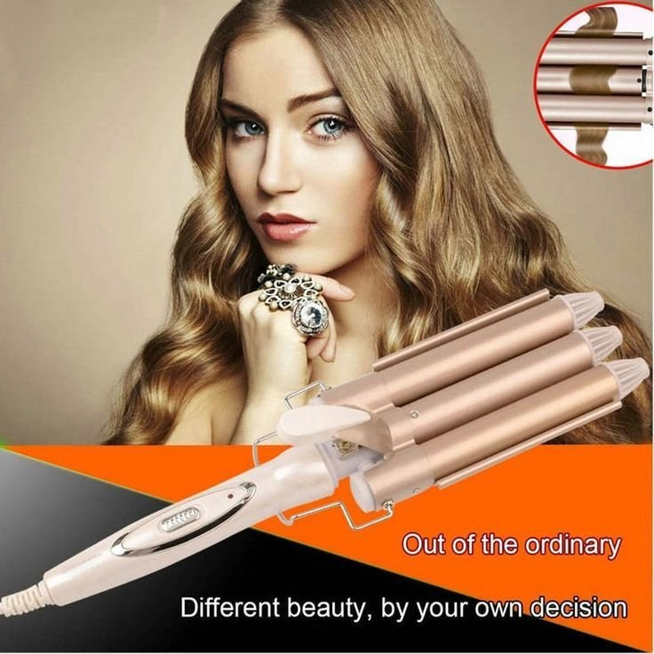 New Omiu Hair Curlers Triple Barrel Hair Curling 110 220V Ideas With Pictures