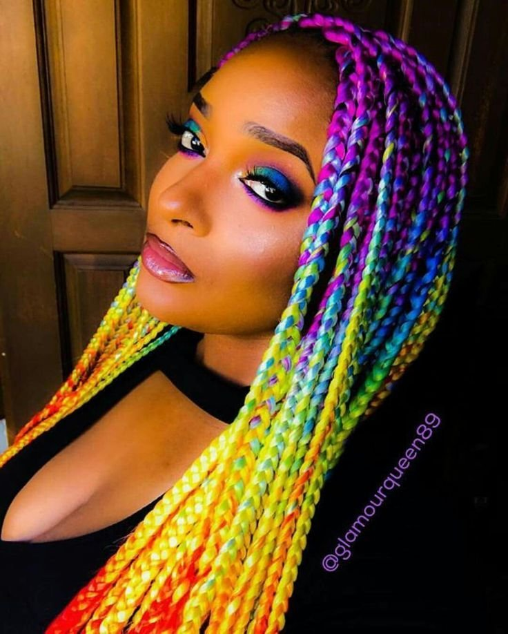 New Best 25 Colored Box Braids Ideas On Pinterest Box Braid Ideas With Pictures
