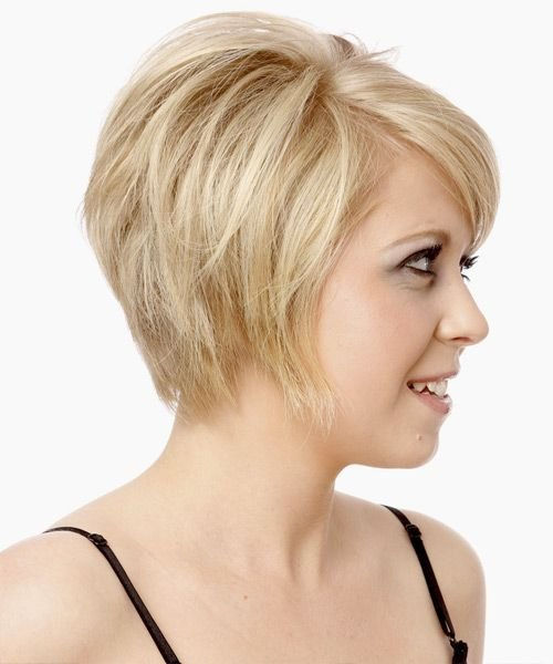 New Short Straight Formal Hairstyle With Side Swept Bangs Ideas With Pictures
