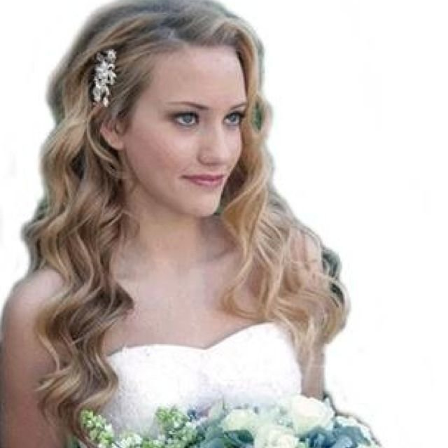 New One Side Pinned Back Wedding Wavy Wedding Hair Wedding Hairstyles For Long Hair Long Hair Ideas With Pictures