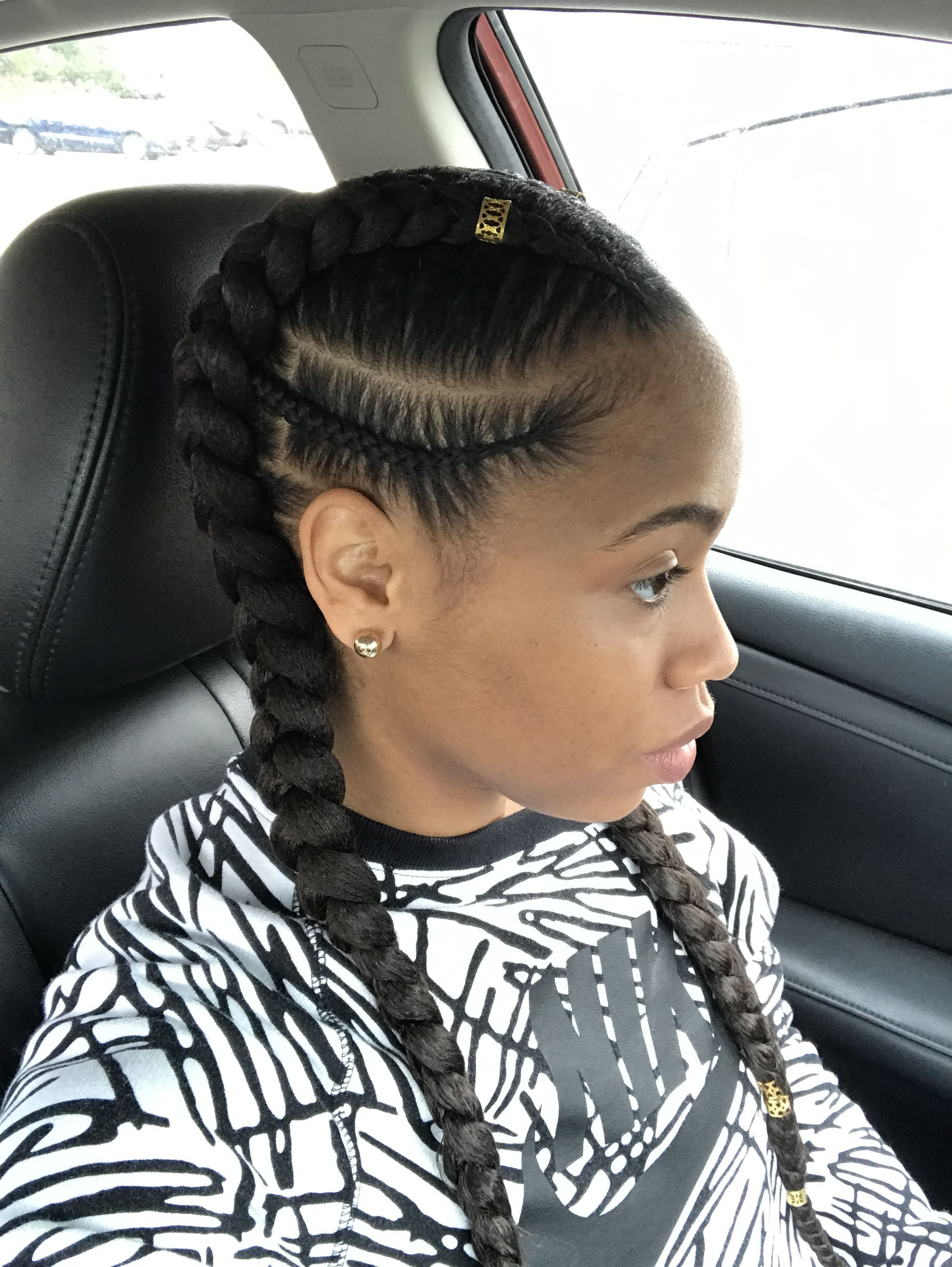 New 2 In 1 Feed In My Hairstyles In 2019 Hair Styles Ideas With Pictures