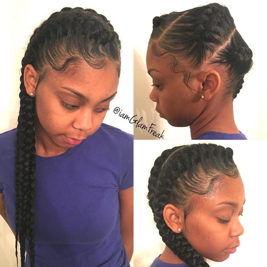New 3 Goddess Braids To The Side Clothes Hair In 2019 Ideas With Pictures