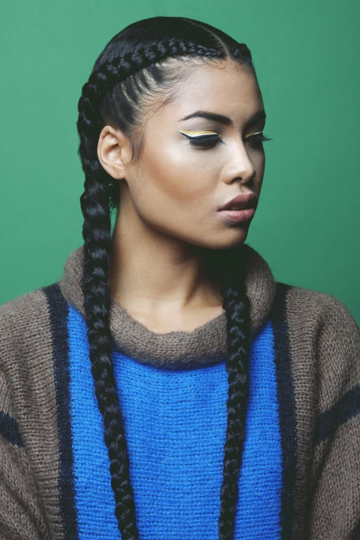 New 2 Cornrow Braids Google Search Hair Hair Styles Ideas With Pictures