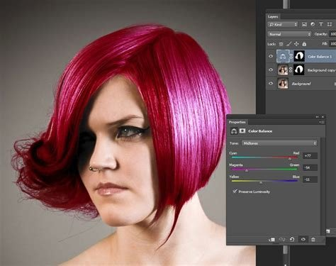 New Photoshop Color Hair 3 Steps To Easily And Realistically Ideas With Pictures