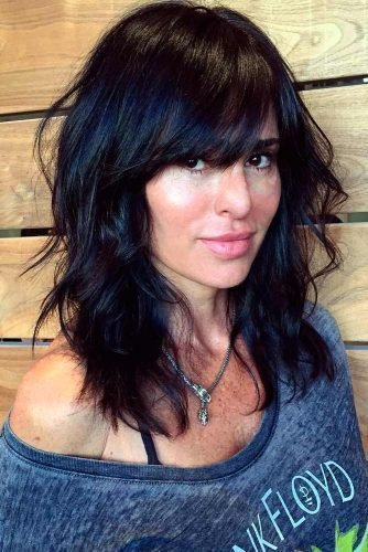 New 55 Medium Length Hairstyles Ideal For Thick Hair Ideas With Pictures