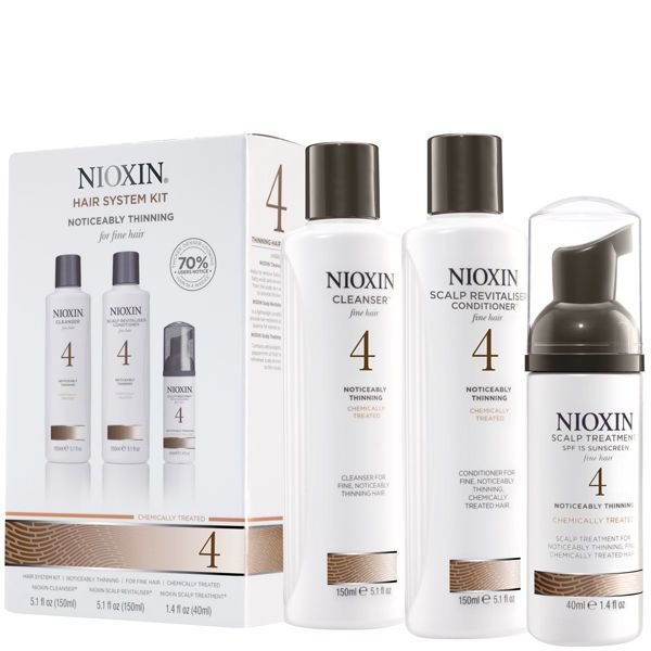 New Nioxin Hair System Kit 4 For Fine Noticeably Thinning Ideas With Pictures